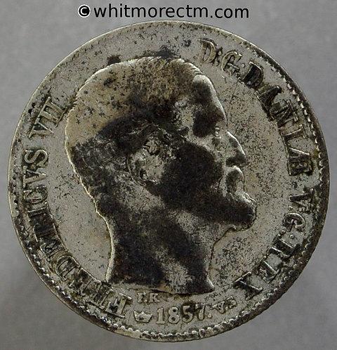 1857 Denmark 16 Skilling C135 *Counterfeit*
