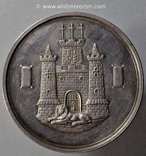 Guildford 1894 Art Association Medal 36mm Castle, lion & woolsacks. Silver