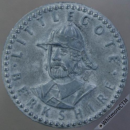 Littlecote Berkshire Medal 25mm Cromwellian soldier. uniface. Zinc