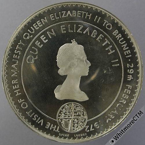 1972 Brunei. Elizabeth II Visit Commemorative Medal 57mm WE8530 Cupro-nickel
