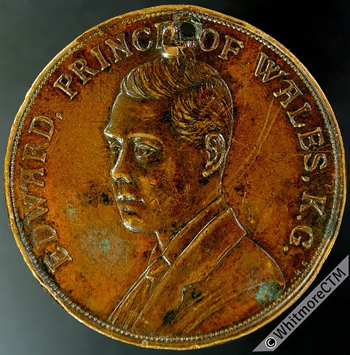 1924 Edward Prince of Wales British Empire Exhibition Medal 38mm B4190 Bronze
