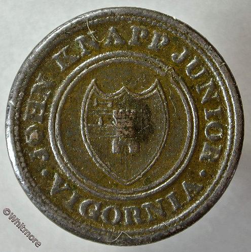 Token 19th Century Halfpenny Worcester 1813 John Knapp Junior Vigornia - obv