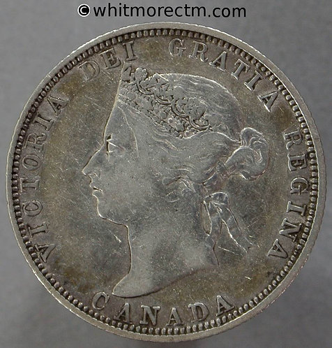 1881H Canada 25 Cent coin