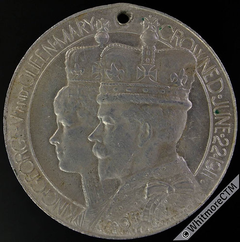 1911 Ragged School Union Coronation Medal 39mm WE5215Q By Sale Aluminium
