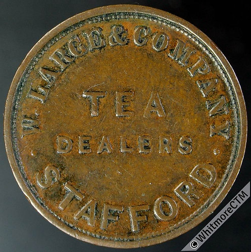 Unofficial Farthing Stafford 4810 W.Large & Co.  Tea Dealers / Vic.Y.H. - Rare