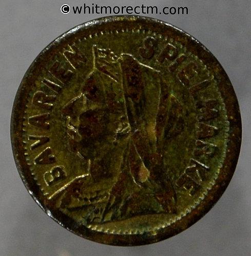 Toy Coin. Balmberger Victoria Veiled Head Sovereign 1897 621 13mm - Gilt Brass