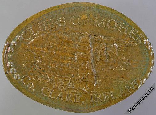 Ireland Elongated Token 30x21mm Cliffs of Mohen - Co.Clare - British 1p