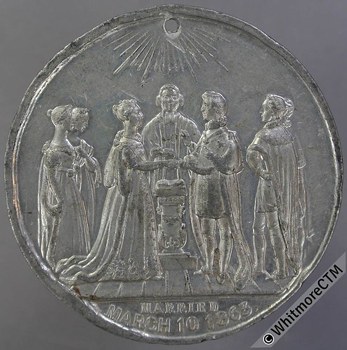 1863 B2756 Marriage of Prince & Princess of Wales 46mm by Brookes & Adams. WM