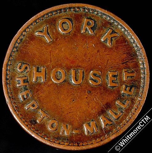 Inn / Pub Token Shepton Mallet York House / J.Green 1 ½D – Not In Minnitt