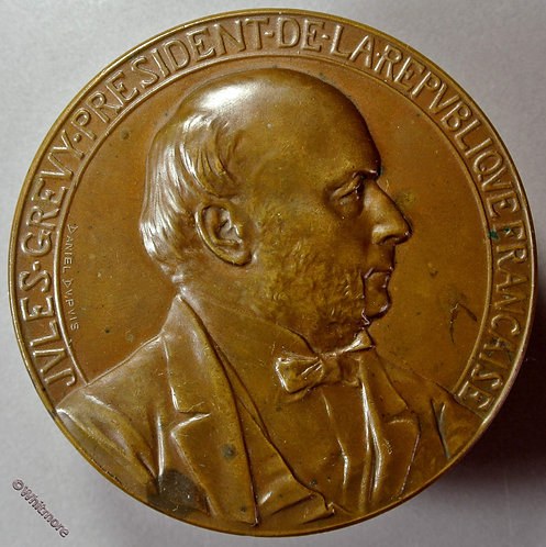 1879 France Election of Jules Grevy as President Medal 69mm By Dupuis Bronze