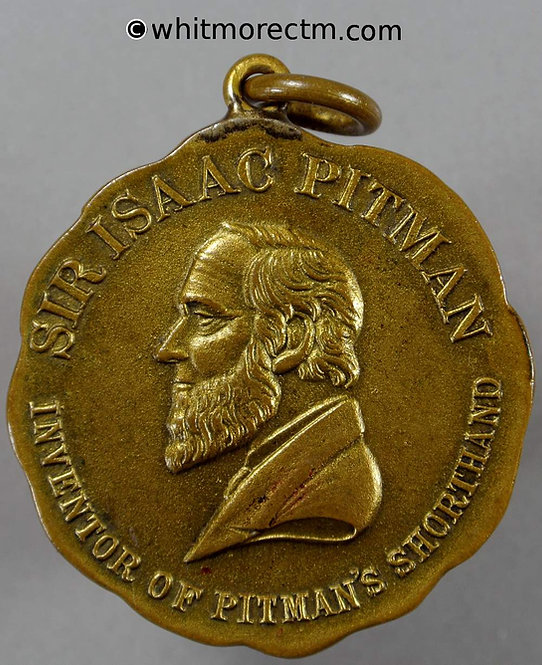 Pitmans Journal of Commercial Education Medal 36mm Shorthand