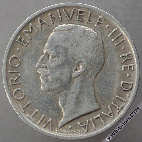 1926 Italy 5 Lire Y67 - Silver
