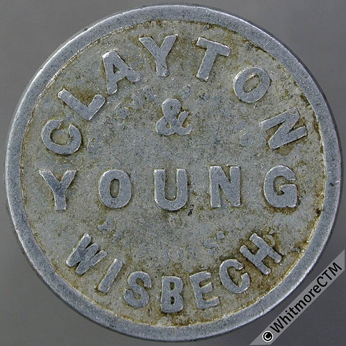 Value Stated Token Wisbech 28mm Clayton & Young / 1s  By Neal - Aluminium