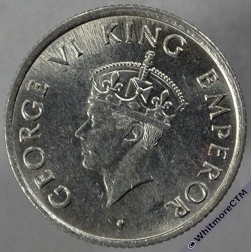 1947 India Quarter Rupee S&W 9.103 obv
