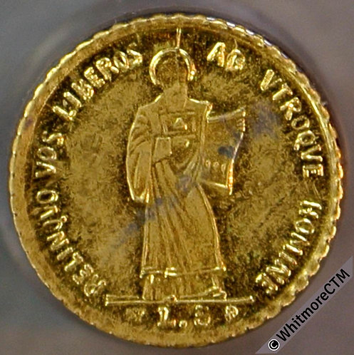 Toy Coin San Marino 5 Lire 1898 as Y6 - Gilt Brass - not in Rogers