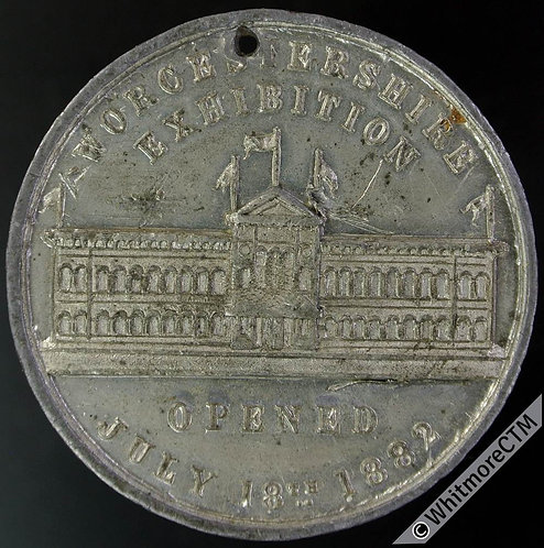 1882 Worcestershire Exhibition Medal 38mm B3141 White metal.