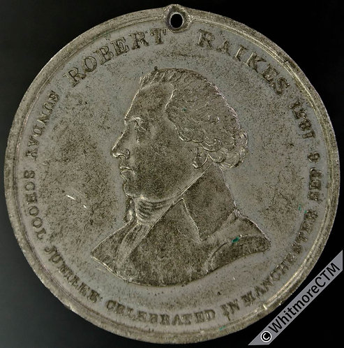 1831 Manchester Sunday School Jubilee Coronation Medal 45mm B1556  Rare