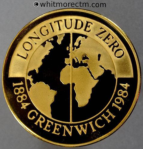 Greenwich 1984 Centenary of Prime Meridian Medal 38mm - Gilt Bronze