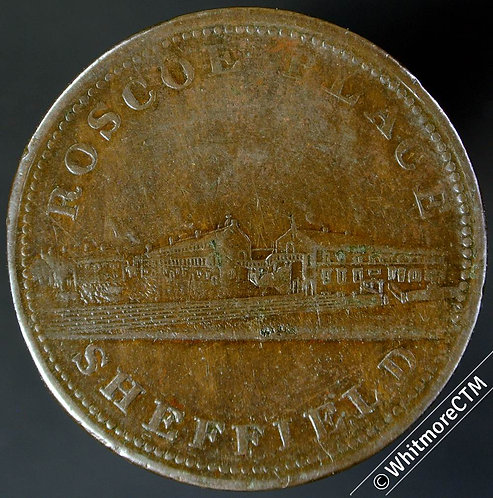 19th Century Penny Sheffield 1046 1812 Roscoe Place - View of factory