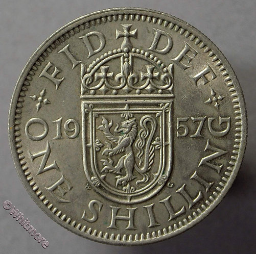 1957 Elizabeth II Scottish Shilling