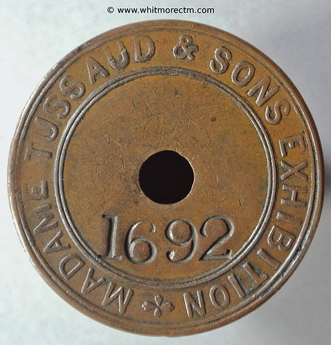 Ticket Pass Token London Madame Tussaud & Sons Exhibition 37mm 83/266