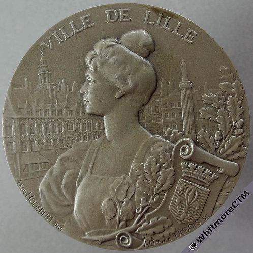1905 France Lille Cirque D'Amateurs Medal 45mm By Dubois for Hodebert obv