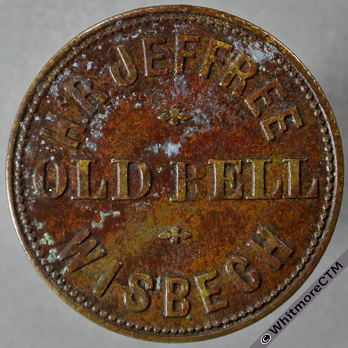 Wisbech Inn / Pub Token Old Bell H. R. Jeffree 1½ D by Vaughton