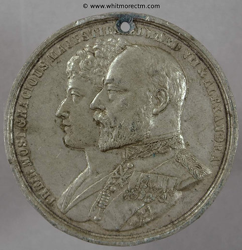 Bermondsey 1902 Coronation Medal Edward VII 39mm WE4153E White Metal