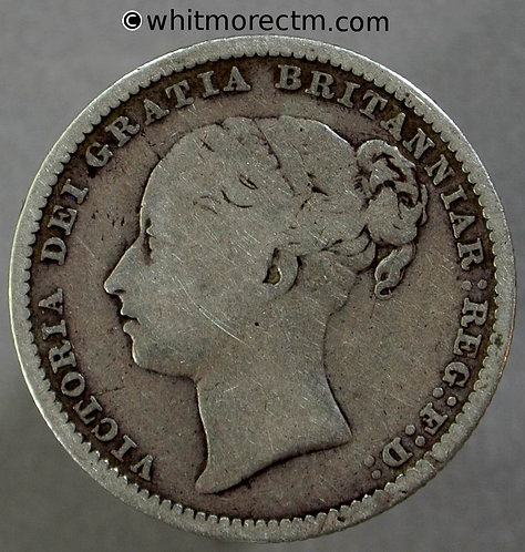 1880 Victoria Young Head Shilling