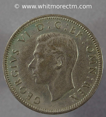 1951 British Shilling George VI  Scottish