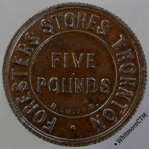 Bonus Token Thornton 23mm Foresters Stores One Pound By H.Smith bronze 10% Lust