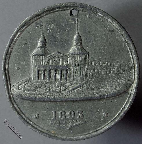 Bristol 1893 Industrial & Fine Art Exhibition Medal 38mm T220A White metal.