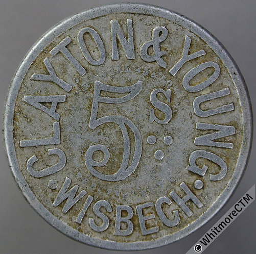 Value Stated Token Wisbech 33mm Clayton & Young / 5s By Neal - Aluminium