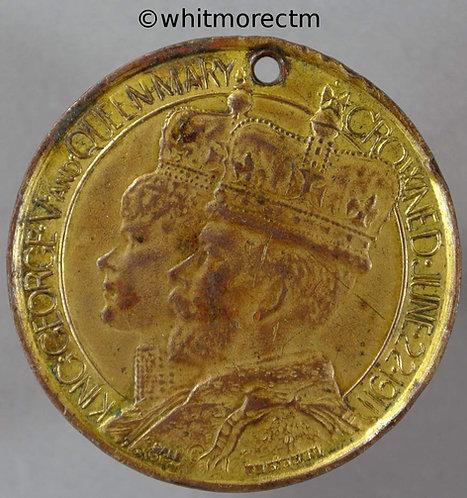 North East Devon 1911 George V Coronation Medal 32mm By Sale. Gilt bronze