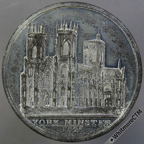 York Minster 1825 Medal 45mm B1254 Clifford's Tower Blown up AD1684 V Rare W.M