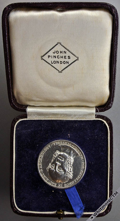 Dorset 1913 J.C.Mansell Pleydell For Natural History Medal 32mm Silver By Pinche