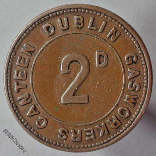 Dublin Gasworkers Canteen Refreshment Token 2D Uniface 29mm
