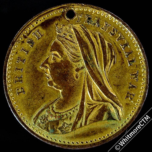 1900 British Transvaal war Success to New Zealand Medal 23mm Gilt Bronze