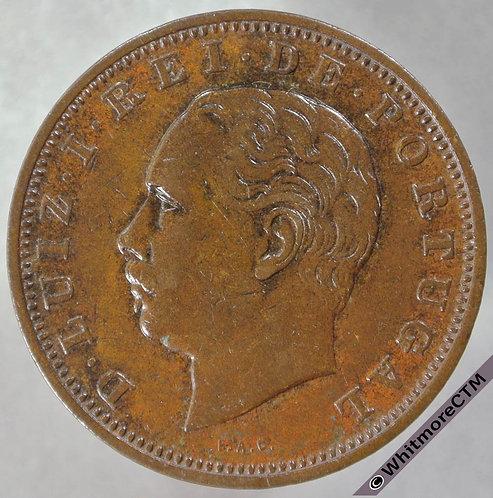 1884 Portugal 20 Reis - Y7 obv