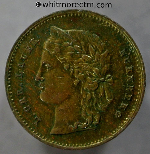 Toy Coin Switzerland 10 Fr 1888 similar to Y40 -13mm Brass - Rogers 2341 obv