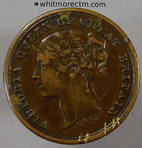 Unofficial Farthing Oldham 4240 M.Schofield. 8 High St. Buy your tea - Rare