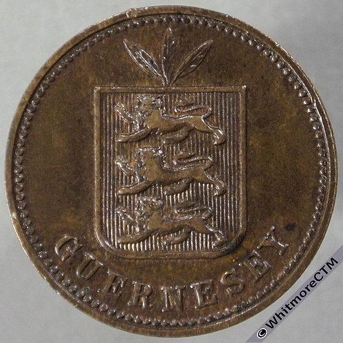 1889H Guernsey 2 Doubles E45 - obv
