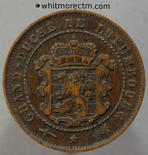 1854 Luxembourg Y1 2½ Centimes coin 1