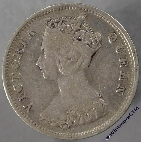 1900 Hong Kong 10 Cent Y4 - obv