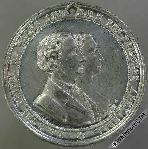1863 Marriage of Prince of Wales (Edward VII) Medal 51mm B2768 By Ottley. W.M