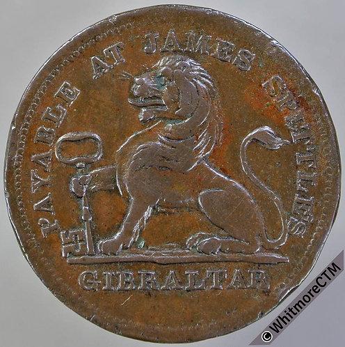 Gibraltar Token 2 Quartos 1820 James Spittles