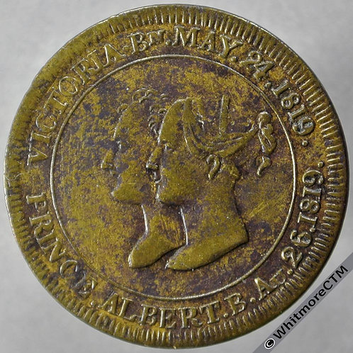 1840 Marriage of Victoria & Albert Medal 27mm BHM1937 Brass - Rare