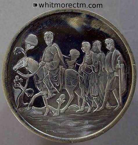 Canterbury 1970 Cathedral Medal 38mm The Pilgrims - Cupro-nickel proof