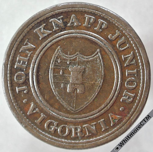 19th Century Halfpenny Worcester 1284 1813 John Knapp Junior