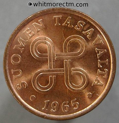 1965 Finland 5 Pennia coin Y57
